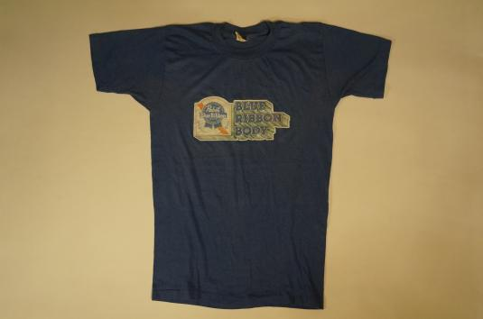 Vintage PABST BLUE RIBBON BODY T-Shirt Beer S