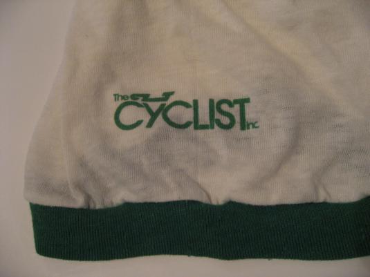 Vintage St. Pattys Day T-Shirt Five Points The Cyclist XL/L