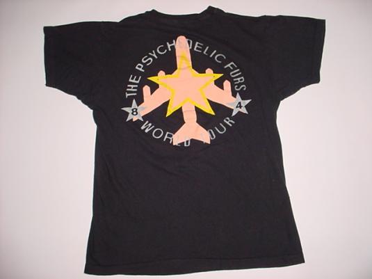 Vintage Psychelic Furs T-Shirt World Tour 1984 M