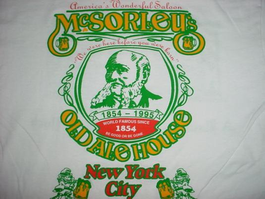 Vintage McSorley's Ale House New York City T-Shirt L