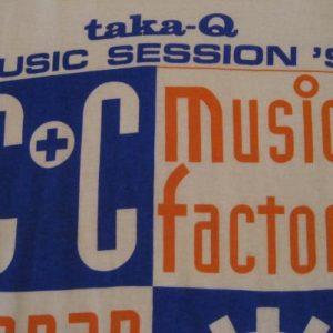 Vintage C+C Music Factory Taka-Q Japan 1991 T-Shirt L/M
