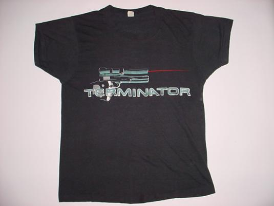 Vintage The Terminator T-Shirt Arnold Schwarzenegger 80s M