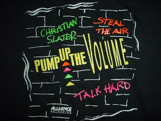 Vintage Pump Up The Volume T-Shirt Christian Slater L
