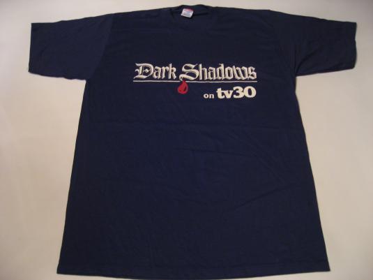 Vintage Dark Shadows T-Shirt TV30 Show Soap Tim Burton L/M
