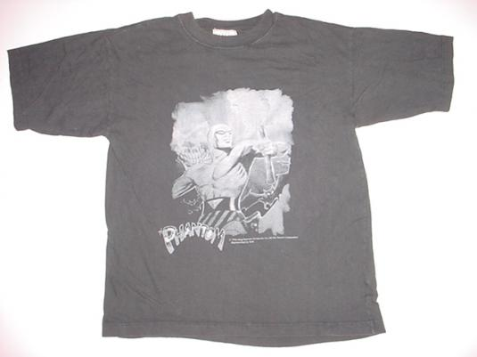 Vintage The Phantom T-Shirt Lee Falk 1990s L/M