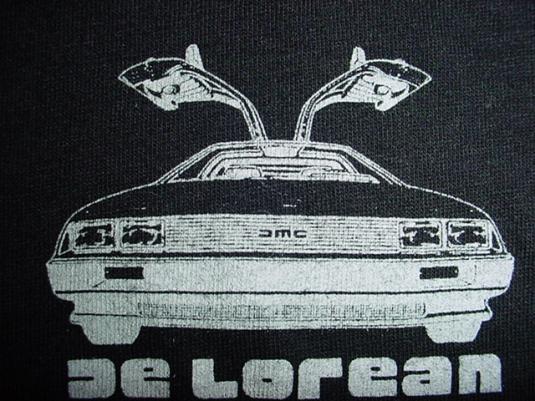 Vintage DeLorean T-Shirt Gullwing John Rare Promo Swag M/S