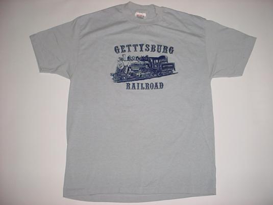 Vintage Gettysburg Railroad T-Shirt Trains 1980s L/M