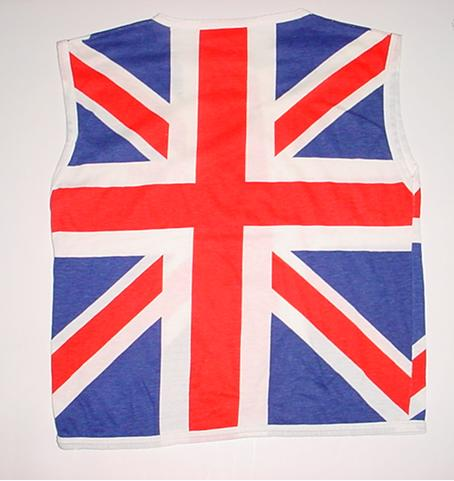 Vintage Def Leppard Union Jack Sleeveless T-Shirt S/XS