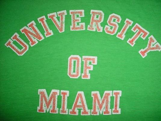 Vintage University of Miami T-Shirt 1980s SOFT! M/S