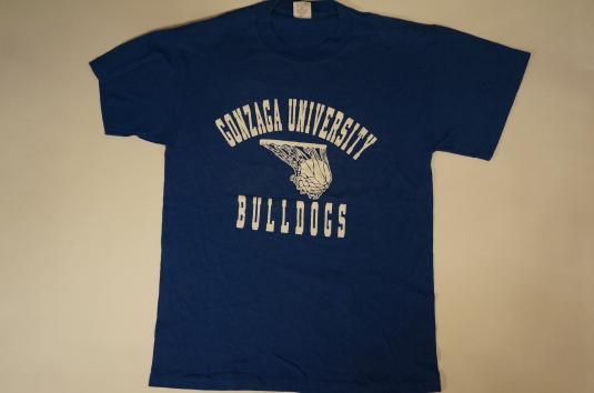 Vintage GONZAGA UNIVERSITY BULLDOGS NIKE T-Shirt L/M