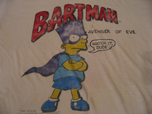 Vintage Bartman Avenger of Evil The Simpsons T-Shirt M/S