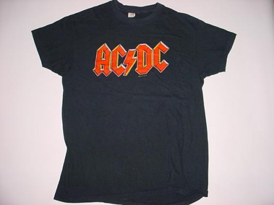 Vintage AC/DC T-Shirt 1979 Back in Black Tour M/L