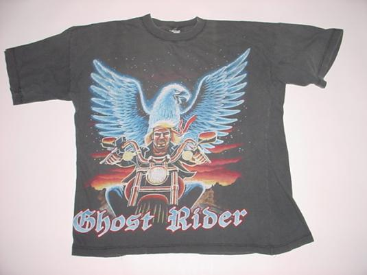 Vintage Ghost Rider T-Shirt Eagle Motorcycle M