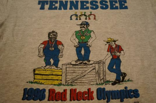 Vintage 1996 RED NECK OLYMPICS TENNESSEE T-Shirt redneck L/M