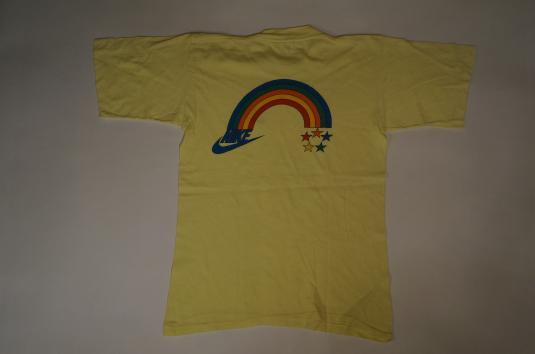 Vintage 70s Rare Nike Rainbow Olympics T-Shirt S