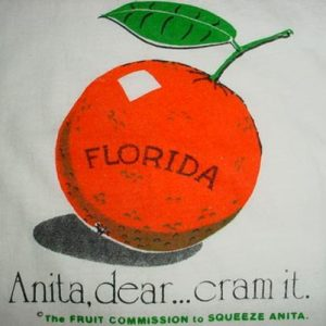 Vintage Anti-Anita Bryant T-Shirt Florida Gay Int 1970s L/M