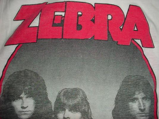 Vintage Zebra T-Shirt Sleeveless Who's Behind The Tour S