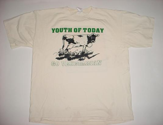 Vintage Youth of Today T-Shirt Go Vegetarian Revelation