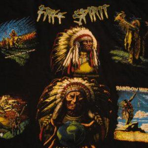 Vintage Free Spirit Native American Indian Head T-Shirt L/XL