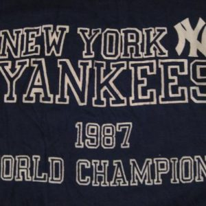 Vintage New York Yankees World Series Champions 1987 T-Shirt