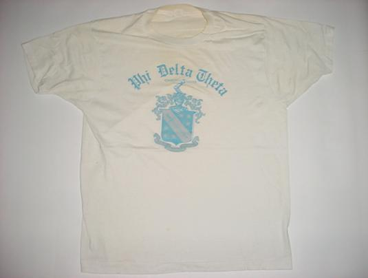 Vintage Phi Delta Theta T-Shirt Frat University M