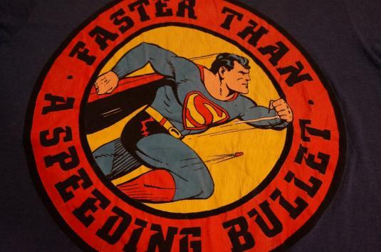 Vintage SUPERMAN Faster Than KRYPTON CLOTHING T-Shirt M/S