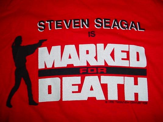 Vintage Steven Seagal T-Shirt Marked For Death M