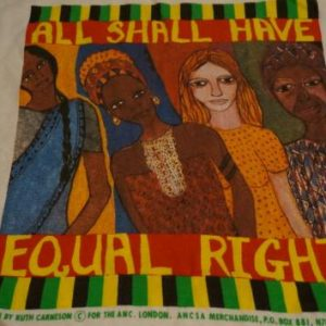 Vintage All Equal Rights Equality T-Shirt Ruth Carneson L/M