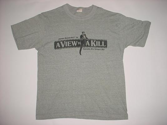 Vintage James Bond View to a Kill T-Shirt Roger Moore M/S