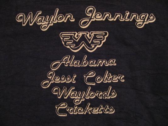 Vintage Waylon Jennings Alabama Waylords Cricketts T-Shirt