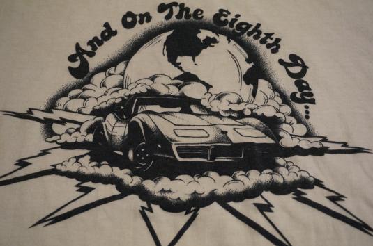 Vintage Vette Corvette T-Shirt Eighth Day God Created… M/S