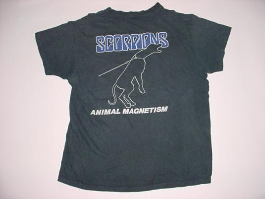 Vintage Scorpions Animal Magnetism T-Shirt M/S