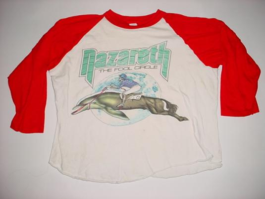 Vintage Nazareth T-Shirt The Fool Circle Jersey S