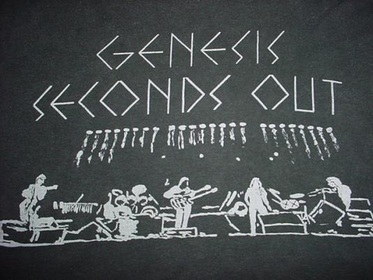 Vintage Genesis Seconds Out T-Shirt Live Album 1977 S