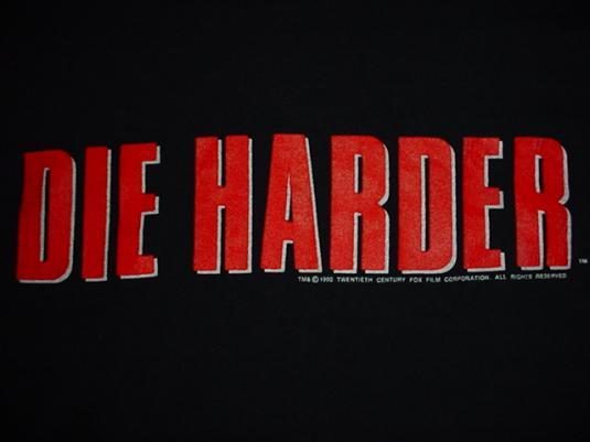 Vintage Die Harder T-Shirt Bruce Willis Hard M