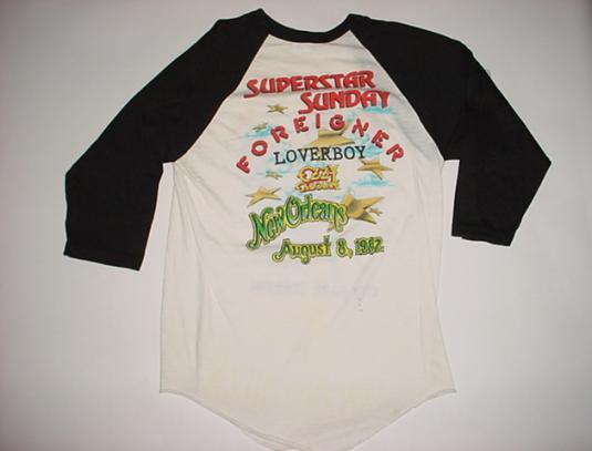 Vintage Ozzy Osbourne Foreigner Loverboy Superstar T-Shirt S
