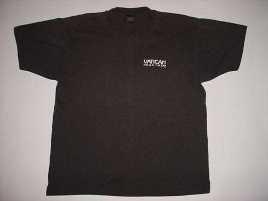 Vintage Pope Tour Vatican Road Crew T-Shirt 1980s L