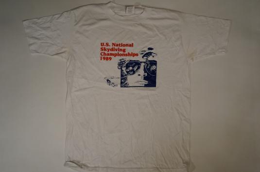 Vintage US National Skydiving Championships 1989 T-Shirt M/L