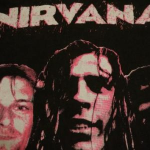Vintage Nirvana T-Shirt Kurt Cobain I Want to Die M