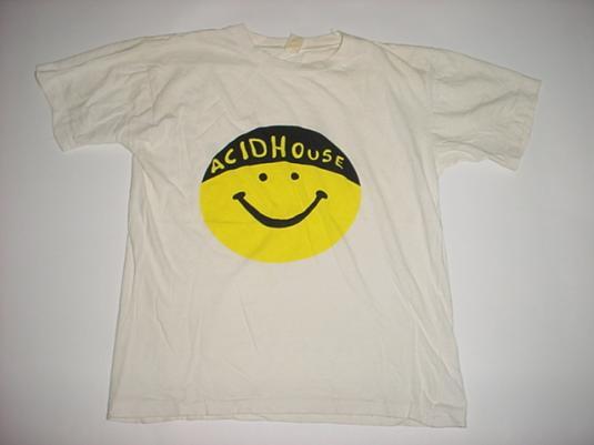 Vintage Acid House T-Shirt Smiley 1980s M/S