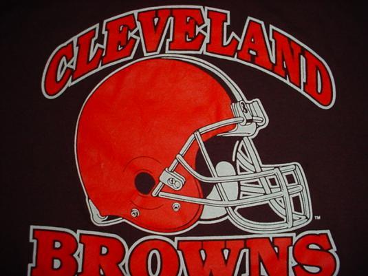 Vintage Cleveland Browns T-Shirt Football NFL L