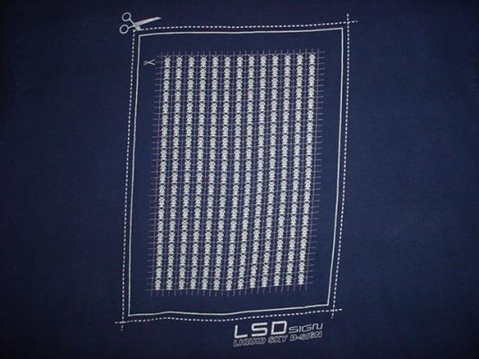 Vintage LSD Liquid Sky Design T-Shirt DJ Soul Slinger Acid L