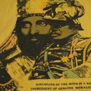 Vintage Rastafarian Haile Selassie Marcus Garvey T-Shirt M/S