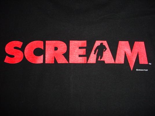 Vintage Scream T-Shirt Glow in the Dark Wes Craven XL