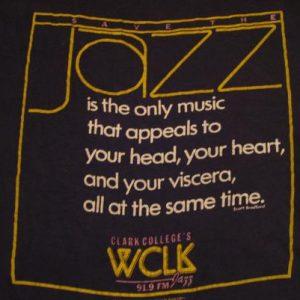 Vintage Scott Bradford Jazz WCLK 91.9 FM radio T-Shirt M/L
