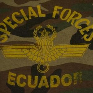 Vintage Special Forces T-Shirt Ecuador Camo M