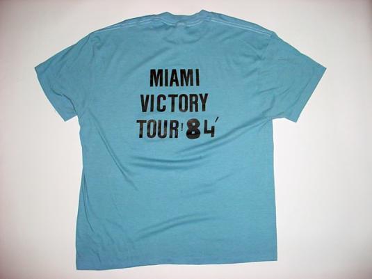 Vintage Michael Jackson Miami 1984 Victory Tour T-Shirt