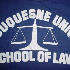 Vintage Duquesne University Law School T-Shirt M/S