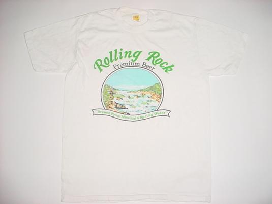Vintage Rolling Rock Beer T-Shirt 1980s M/L
