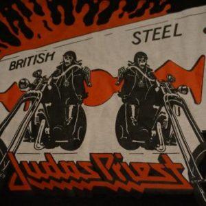 Vintage Judas Priest British Steel T-Shirt 1980 L/M
